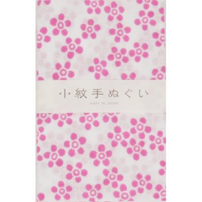 画像1: [泉紅梅:小紋手拭]小花(ピンク) (1)