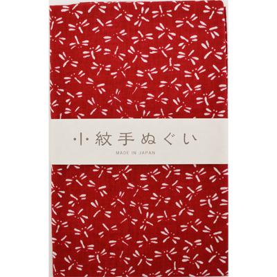 画像1: [泉紅梅:小紋手拭]とんぼ(臙脂) (1)