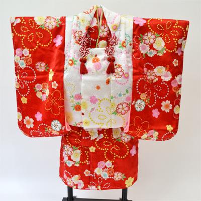 画像1: 【七五三】 三歳正絹被布セット (1)