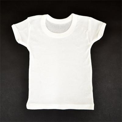 画像1: 【BABY】 丸首白無地半袖シャツ2枚組 (1)