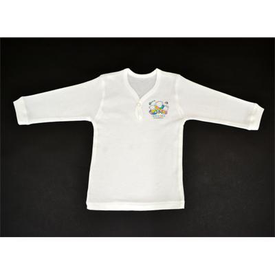 画像1: 【BABY】 1ツボタン長袖シャツ2枚組 (1)