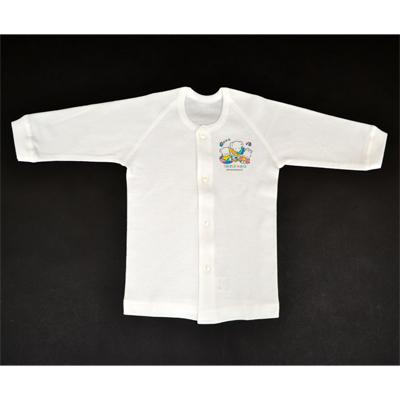 画像1: 【BABY】 前開き長袖シャツ2枚組 (1)