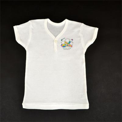 画像1: 【BABY】 1ツボタン半袖シャツ2枚組 (1)