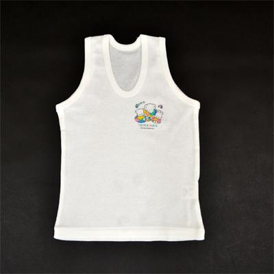 画像1: 【BABY】 U首ランニングシャツ2枚組 (1)