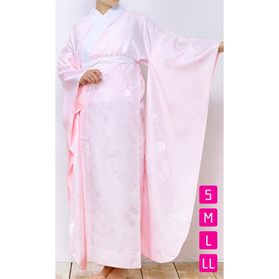画像1: 【振袖用長襦袢】 既製品ピンク 袖丈108cm (1)