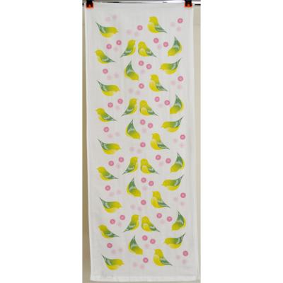 画像1: [フェイスタオル] 撫子多織 桃とメジロ (1)