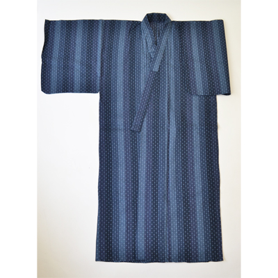 画像1: 【紳士浴衣】 しじら織プレタ浴衣 刺子風 (1)