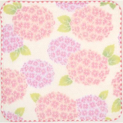 画像1: 【和心】 ガーゼたおる 紫陽花 ピンク (1)