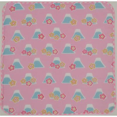 画像1: 【和心】 ガーゼたおる フジヤマ桜 ピンク (1)