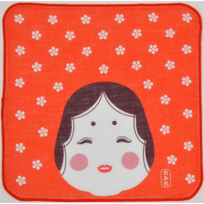 画像1: 日本タオルはんかち おかめ (1)