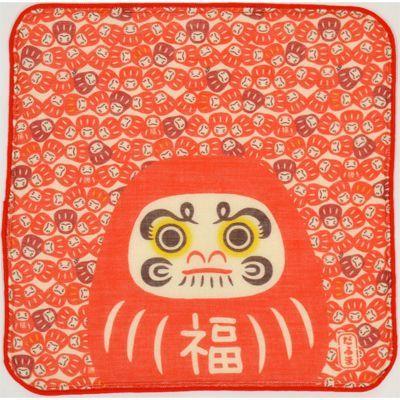 画像1: 日本タオルはんかち だるま (1)