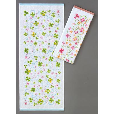 画像1: [フェイスタオル]花は花 2色アソート 12枚セット (1)