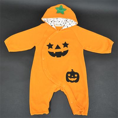 画像1: ?【ハロウィン】  着ぐるみオール かぼちゃ (1)