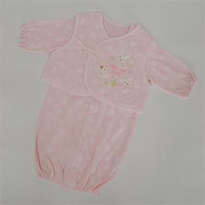 画像1: 【BABY】 ベスト付 コンビドレス ピンク (1)