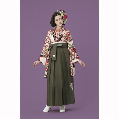 画像1: 【卒業衣装】 【九重】 ブーケ/矢絣 赤 (1)