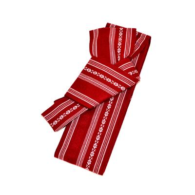 画像1: [角帯] ワンタッチ角帯 赤 (1)