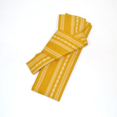 画像1: [角帯] ワンタッチ角帯 金茶 (1)