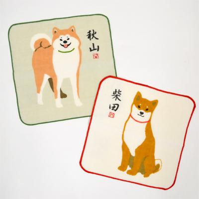 画像1: [ガーゼタオル] 【柴犬】 しばたさんあきやまさん (1)