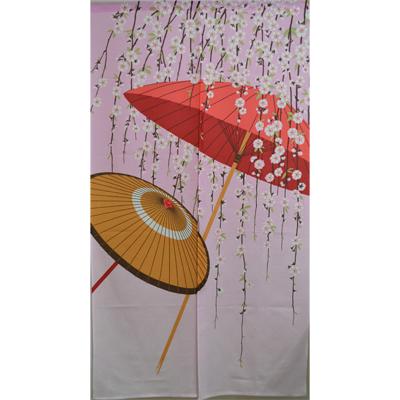 画像1: [のれん] 番傘としだれ桜 (1)