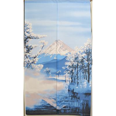 画像1: [のれん] 冬富士 (1)