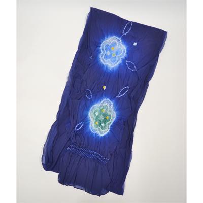 画像1: 【兵児帯】 子供兵児帯 柄絞り 濃紺×青×緑 (1)