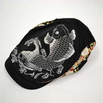 画像1: 【帽子】 刺繍ハンチング 鯉 (1)