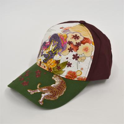 画像1: 【帽子】 刺繍綿キャップ 竜虎 (1)
