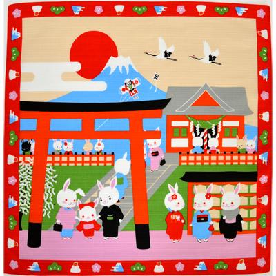 画像1: 【小風呂敷】【四季彩布】 お正月 初詣 (1)