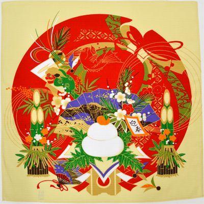 画像1: 【小風呂敷】【彩時記】 お正月 迎春   (1)