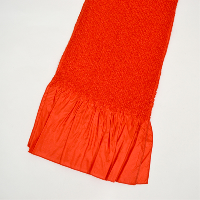 画像1: 【振袖用帯揚げ】 Stitch 絞り帯揚げ 朱赤 (1)