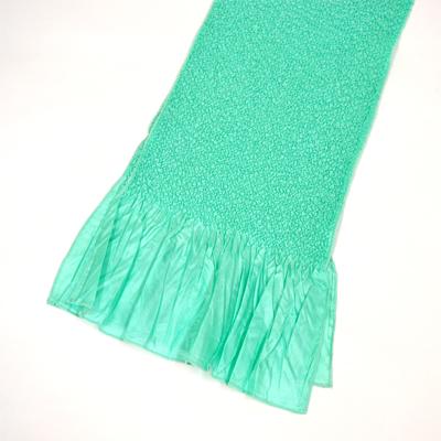 画像1: 【振袖用帯揚げ】 Stitch 絞り帯揚げ アクアグリーン (1)