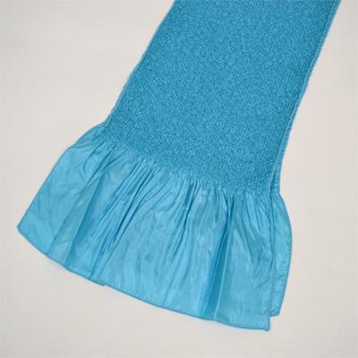 画像1: 【振袖用帯揚げ】 Stitch 絞り帯揚げ 水 (1)