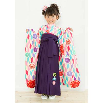 画像1: 【卒業衣装】 女児 卒園着物(水色/ピンク) (1)