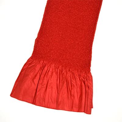 画像1: 【振袖用帯揚げ】 Stitch 絞り帯揚げ エンジ (1)
