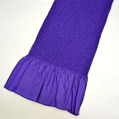 画像1: 【振袖用帯揚げ】 Stitch 絞り帯揚げ 紫 (1)