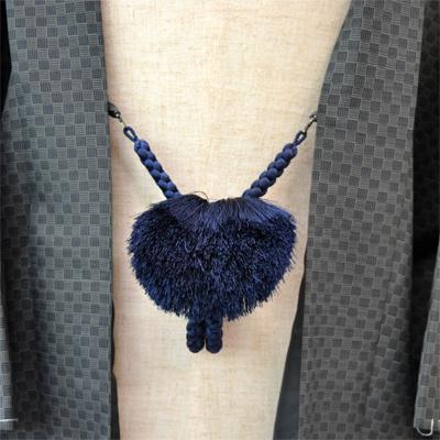 画像1: 【紳士羽織紐】 正絹 丸組み 茄子紺 (1)