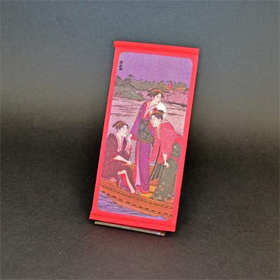 画像1: 【財布】 不織布 浮世絵財布 船美人 5個セット (1)