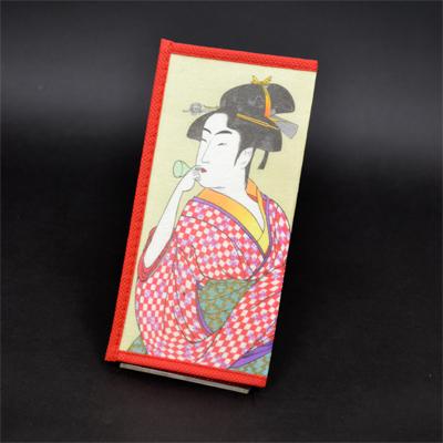 画像1: 【財布】 不織布 浮世絵財布 ポッピン美人 5個セット (1)