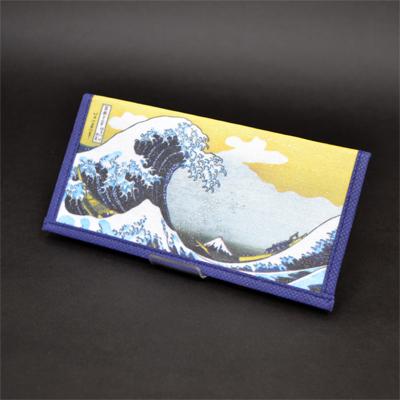 画像1: 【財布】【葛飾北斎】 不織布 浮世絵財布 神奈川沖波裏 5個セット (1)