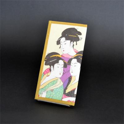 画像1: 【財布】 不織布 浮世絵財布 三美人 5個セット (1)