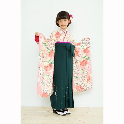 画像1: 【卒業衣装】  Jr着物 菊桜(ピンク) (1)