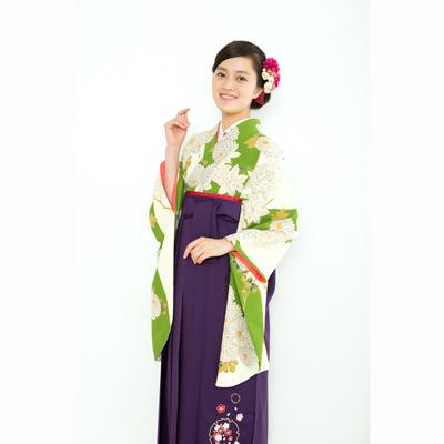 画像1: 【卒業衣装】  立涌に菊(緑) (1)