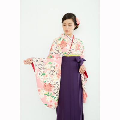画像1: 【卒業衣装】  菊桜(ピンク) (1)