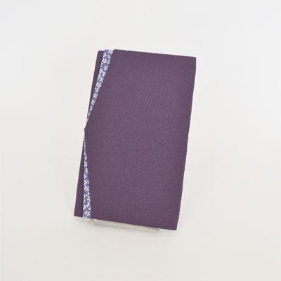 画像1: 【ふくさ】 ちりめん桜小紋 金封ふくさ (紫) (1)