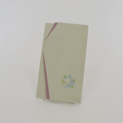画像1: 【ふくさ】 刺繡金封ふくさ (萩グレー) (1)