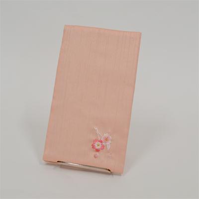 画像1: 【ふくさ】 紬刺繍金封ふくさ (桜ピンク) (1)