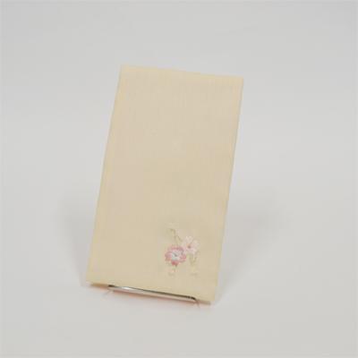 画像1: 【ふくさ】 紬刺繍金封ふくさ (桜クリーム) (1)
