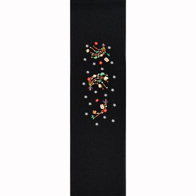 画像1: 【半衿】🎍【お正月】 あけおめ刺繍半衿 (1)