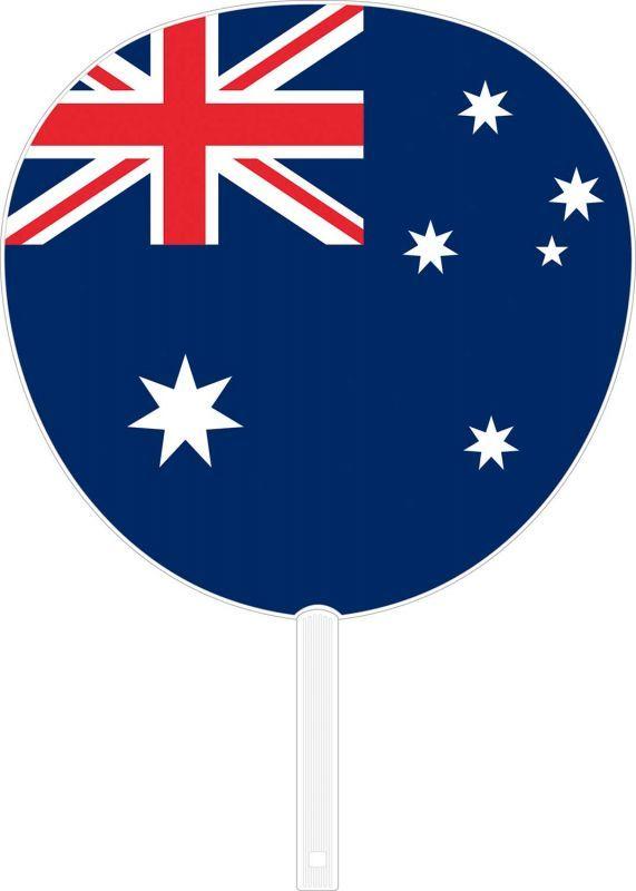 画像1: 【うちわ】 国旗ジャンボうちわ オーストラリア (1)