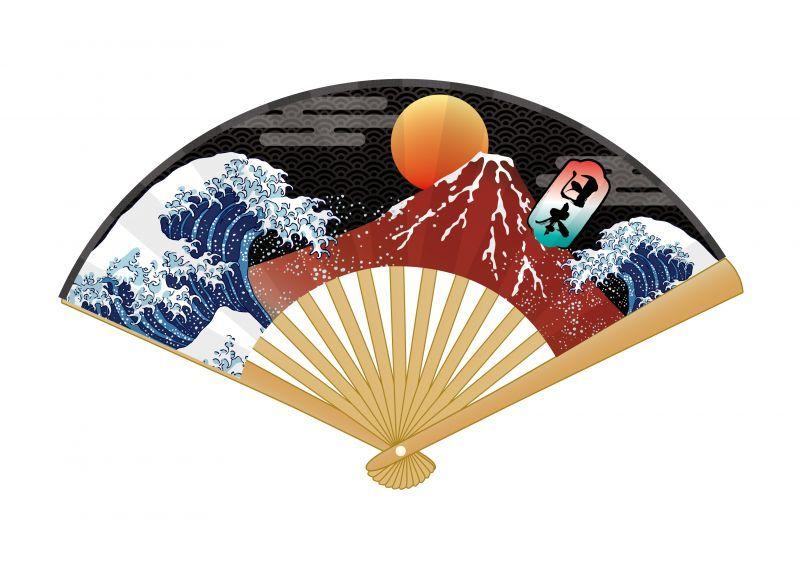 画像1: 【ミニ扇子】 日本シリーズ  富士 (1)